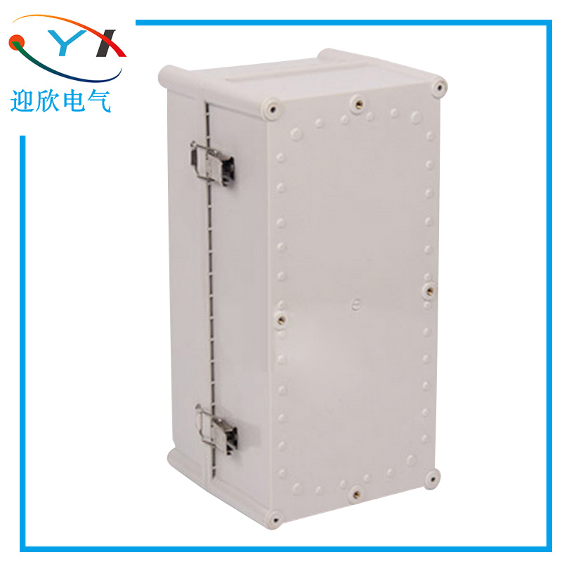 Plastic waterproof box 380*190*180 cable outdoor dustproof box junction box can be customized hinge buckle