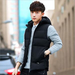【今日下单119元】2018秋冬新款青年马甲带帽棉冬季保暖舒适