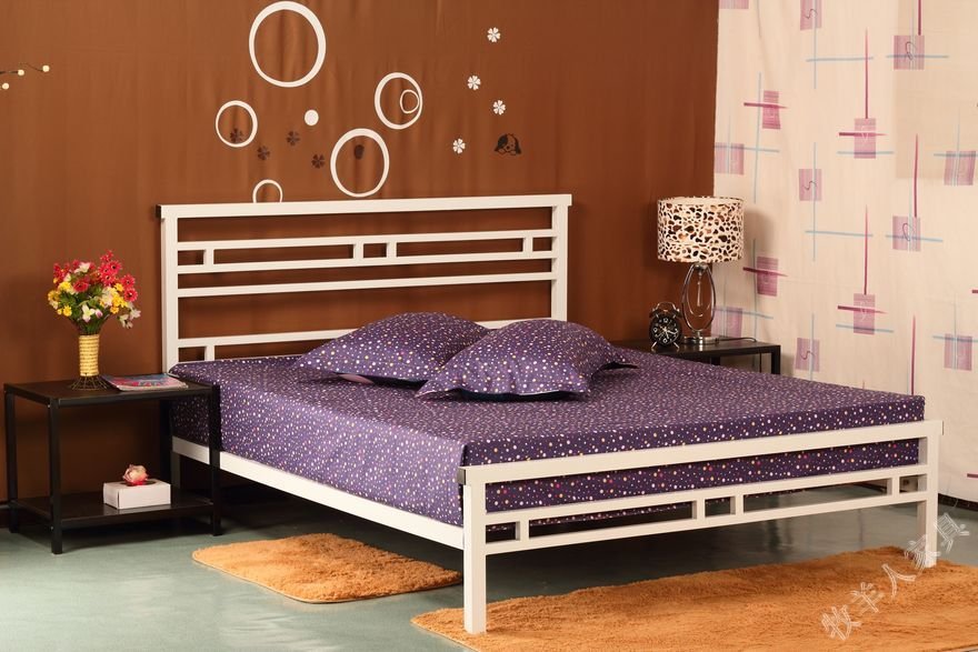 Korean princess bed iron bed iron bedstead 1.5 meters 1.8 meters double bed single bed children bed 1.2 meters
