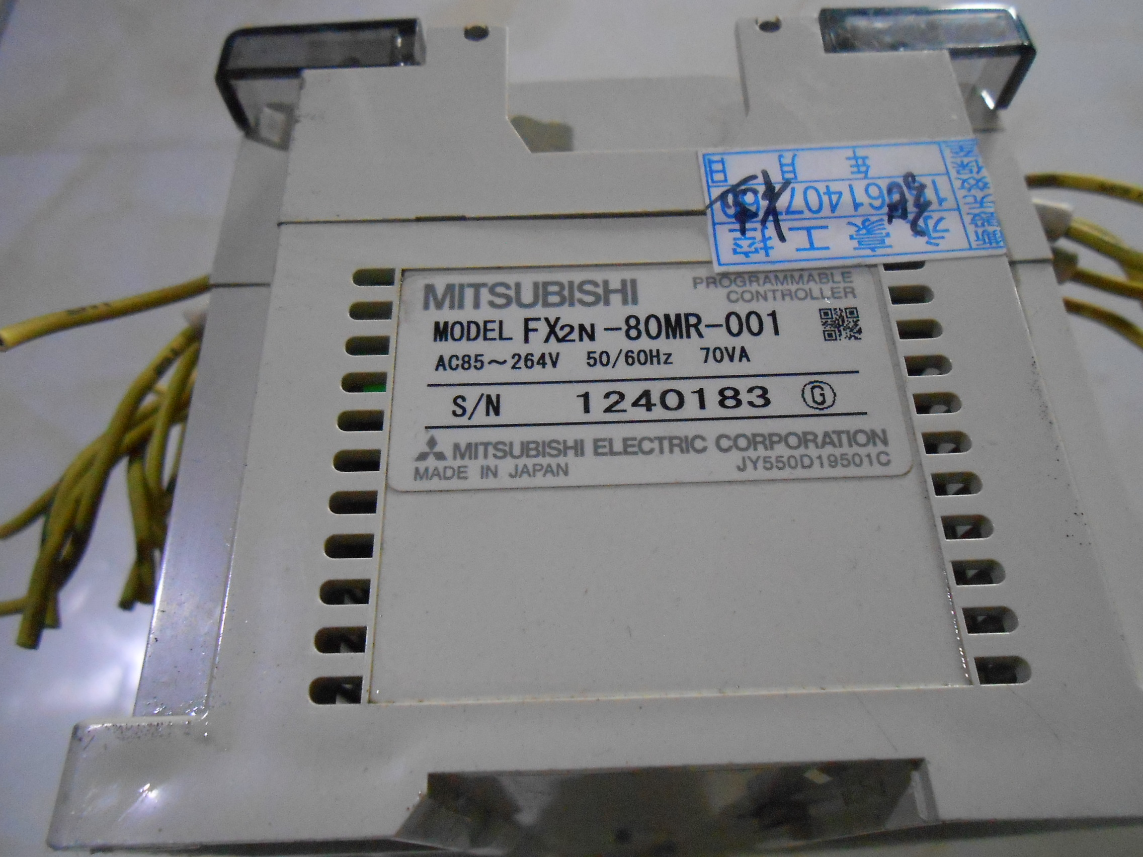 中古GEMAXの三菱PLCFX2N-80MR-001実物図引合代購