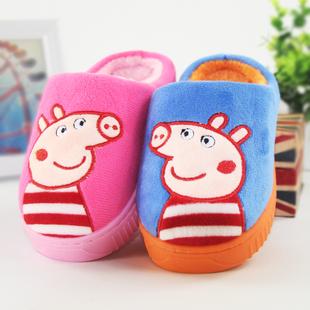 儿童棉拖鞋秋冬季男童女童居家宝宝室内保暖卡通加厚软底防滑拖鞋