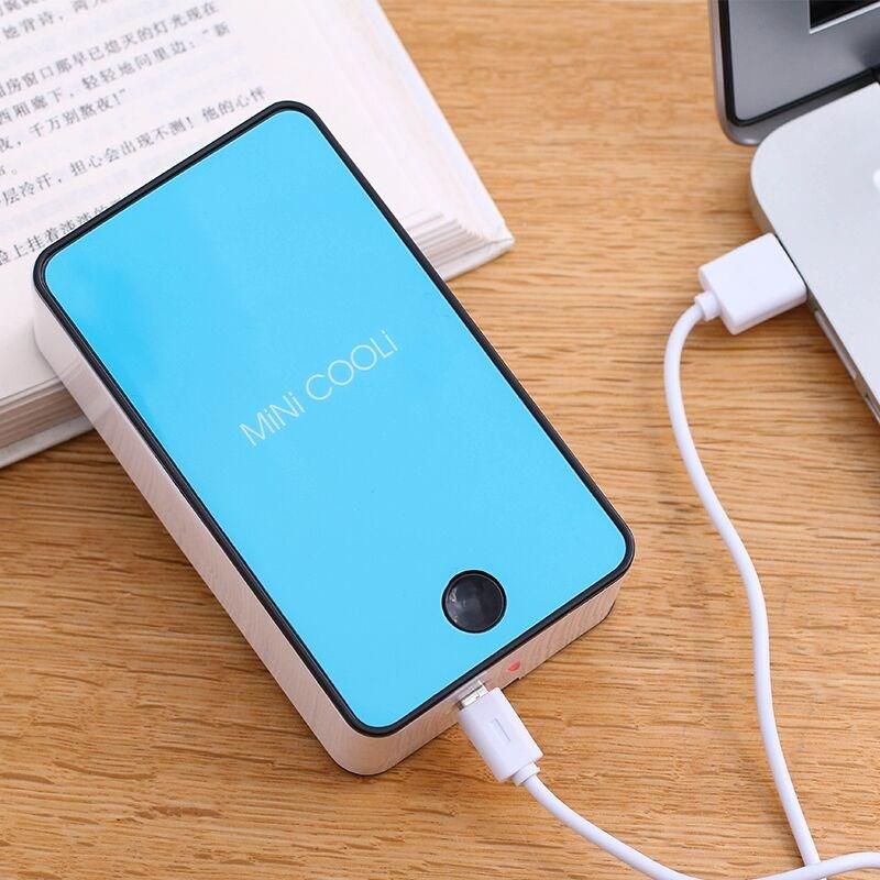 Mini Mini refrigeration air conditioning USB charging portable non leaf fan, creative handheld handheld fan, ultra quiet