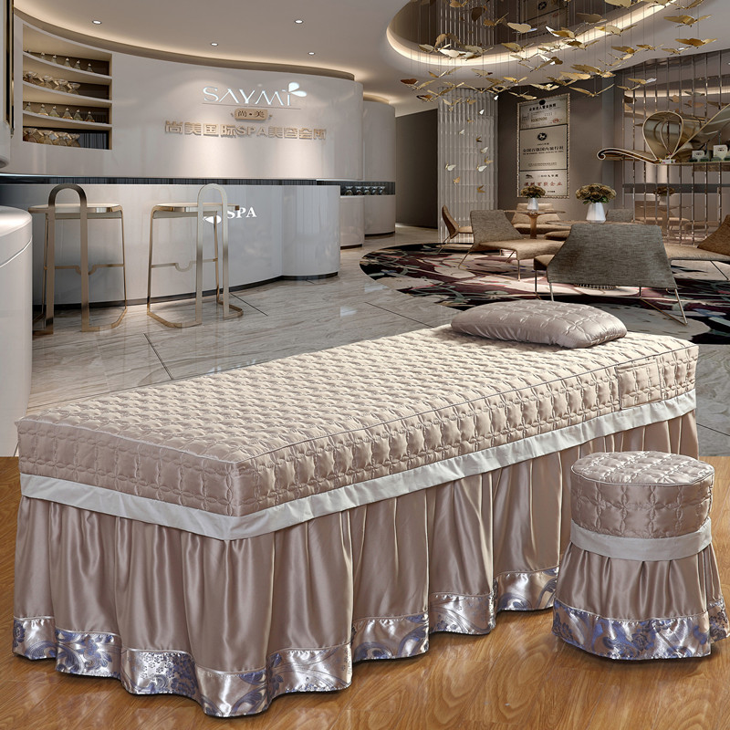 All cotton imitation silk beauty bedspread four sets, beauty salon bed massage, SPA bed product washing