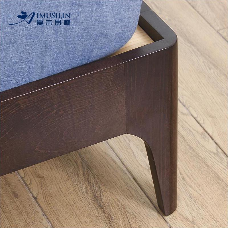 Japanese style all solid wood Nordic bed, 1.8 meters, 1.5 meters double bed, beech bedroom furniture is simple