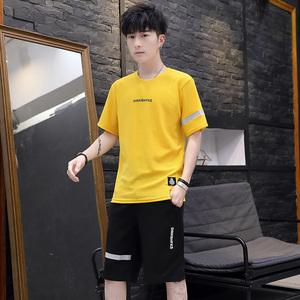 【今日59元】男士短袖两件套夏季新款韩版潮流宽松休闲运动套装男