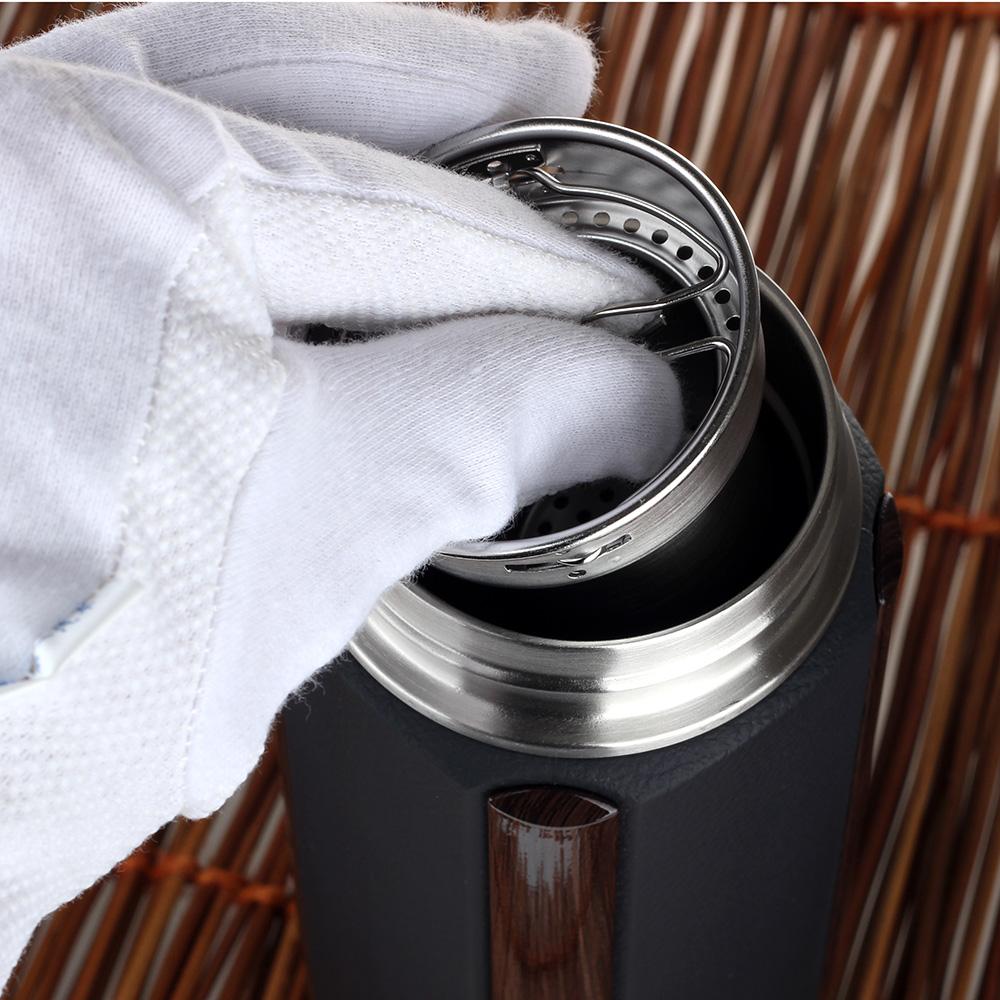 La taza de té de todo hombre la Copa Oficina de filtros de malla de acero inoxidable de vacío de la moda.