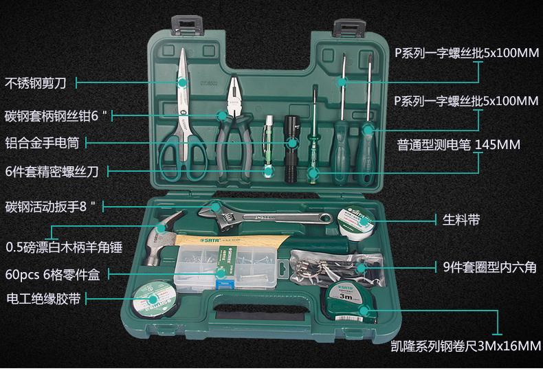 Caixa de reparação. Reparação de hardware presentes mão ferramenta multifuncional conjunto de ferramentas de USO doméstico - Grupo property services