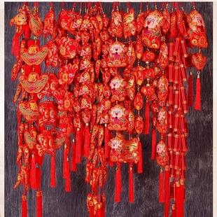 客厅布置乔迁喜庆春节过年挂件新年装饰