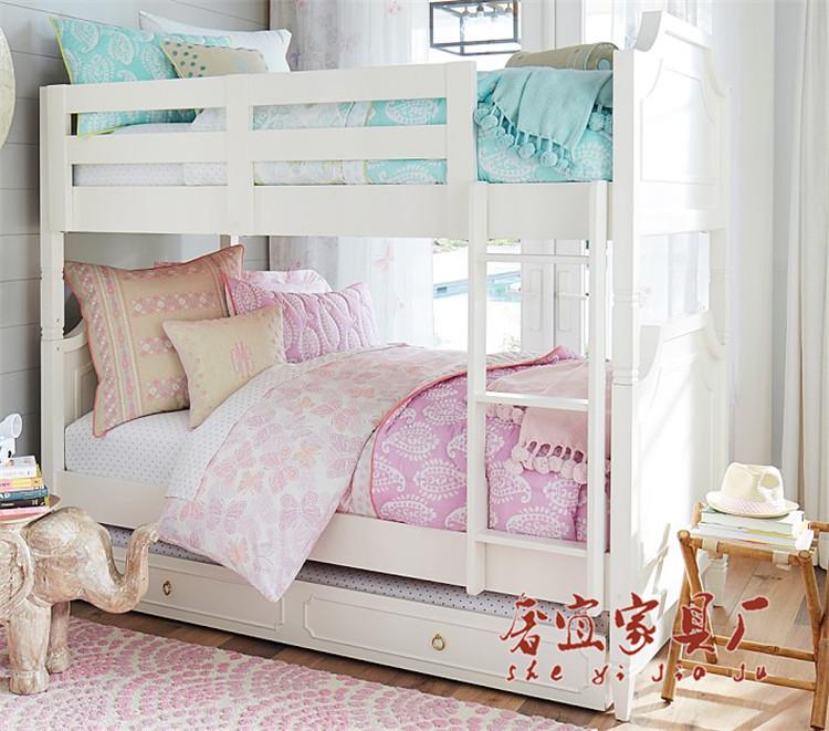 En los niños de madera maciza de simple estilo europeo bajo la cama de pequeño tamaño de la combinación de la cama y cama cama Blanca Nieves
