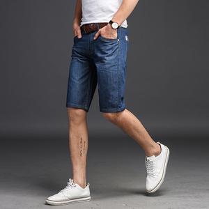 2018新款牛仔短裤男夏季大码直筒5分裤宽松马裤男士五分裤子潮流