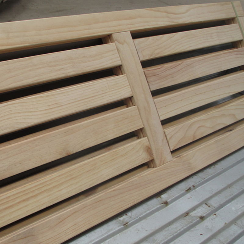 1.2/1.5/1.8 Misongmu wood wood thickened breathable green double row bed frame customization