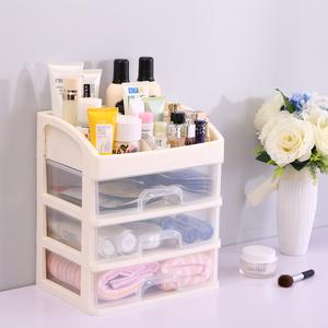 抽屉式化妆品口红浴室收纳盒塑料办公室桌面梳妆箱化妆盒