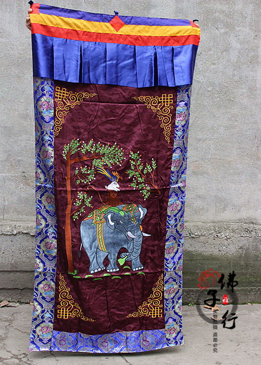 Tibetan door curtain / cotton door curtain, pure cotton door curtain, lucky door curtain, Tibetan door curtain, embroidery curtain, double layer thick