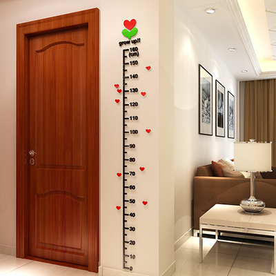 3D Wall Stickers Height stickers children's room cartoon baby bedroom measuring height feet wall stickers