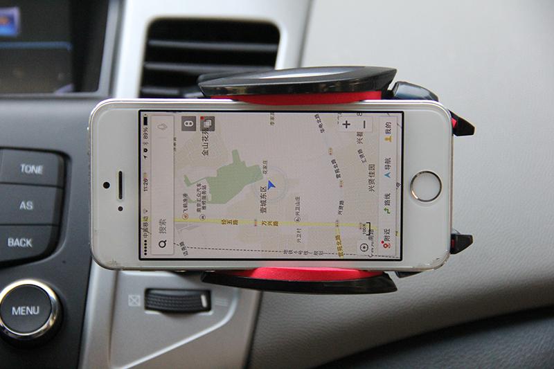 车载手机支架 出风口 汽车手机导航支架车用苹果iphone三星手机座高清图片