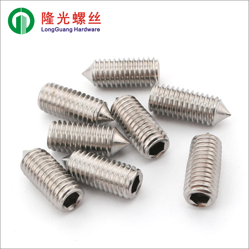 304 stainless steel in DIN914 six pyramidal end locking nail without head set screw tip wire M8M10M12