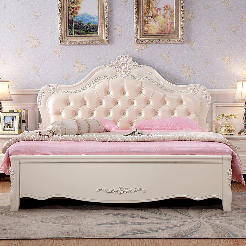 European style bed double bed bed bed Korean romantic princess Jane high box bed garden bed bed