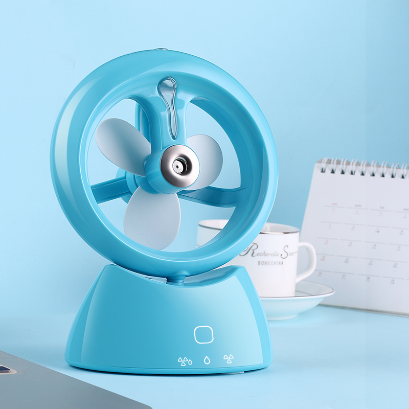 Refrigerator, student dormitory, electric wind charging, spray air conditioner fan with table body fog cold fan USB Mini Mini