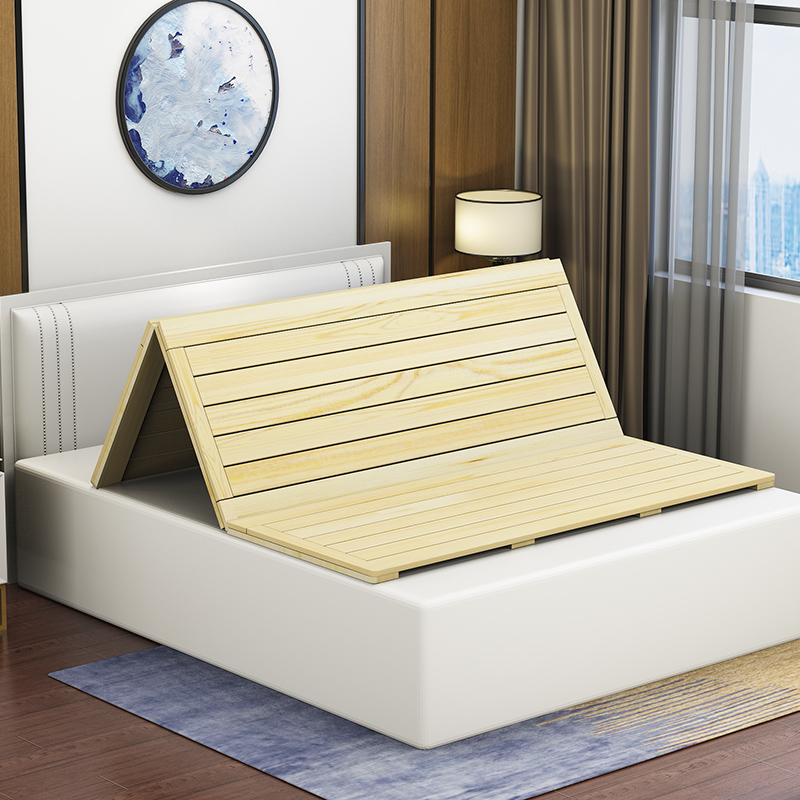 1.8 meters 1.5 meters of solid wooden mattress folding bed hard bedplate double tatami skeleton can be customized