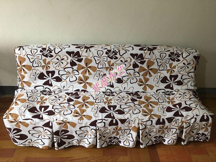肥厚床套折り畳みソファーソファーソファーの布カバー全蓋ラップド3人組で通用するシンプルな現代