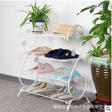 Special offer simple home 4 stainless steel rack space economy type mini baby shoe cover Mini trumpet