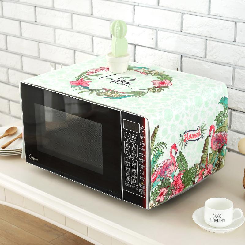 Capa de tecido de impressão de CAPA de poeira, forno de Microondas, forno de Microondas, Marca de beleza 盖巾 forno CAPA de poeira.