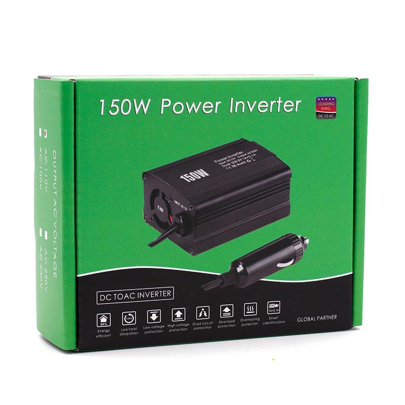 150W vehicle inverter, dual USB port inverter, DC12V to 220V/110V automotive power converter