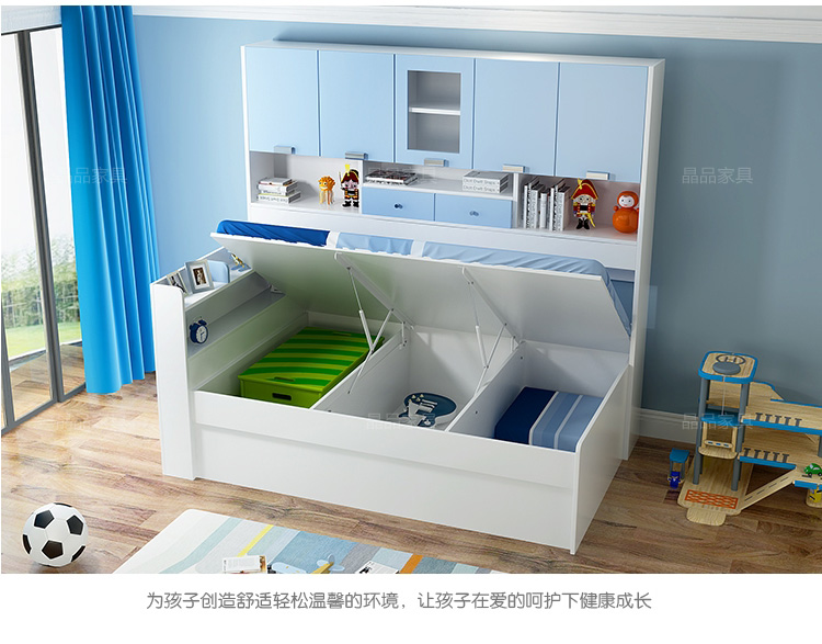 Store promotional children bunk bed double bed bed mother multifunctional wardrobe bed bed bed combined with bookshelf