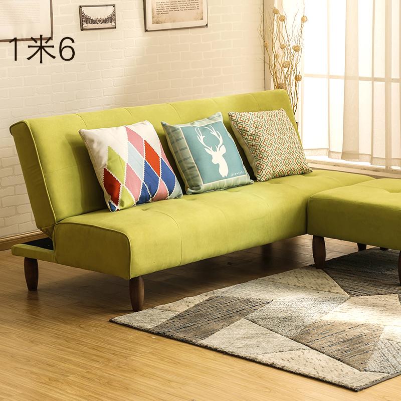 Το ύφασμα πτυσσόμενο καναπέ - κρεβάτι καναπέ, έχασε το μικρό μέγεθος του σαλονιού συνδυασμένη καναπέ διπλό 1,6 m τρεις άνθρωποι 1,8 m