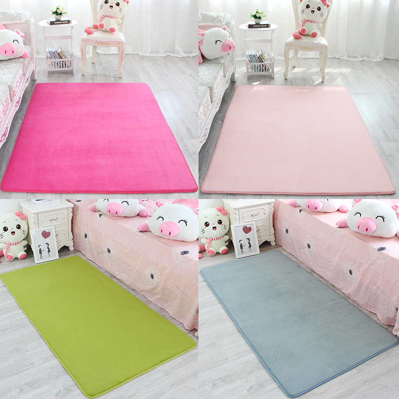Thick cushion blanket coral fleece bedroom living room coffee table covered with tatami bed rug children crawling pad slip