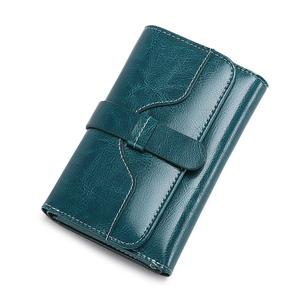 钱包2018新款女士钱包女短款学生韩版小清新折叠牛皮夹搭扣零钱包