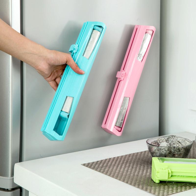 บ้านบ้านห้องครัว Gadget เครื่องตัดฟิล์มห่ออาหารกล่องตัดฟิล์มพลาสติกอุปกรณ์ภายในบ้านที่สร้างสรรค์