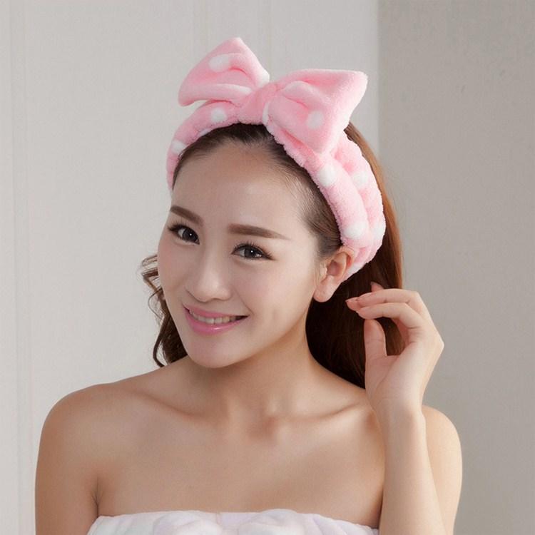 Cheveux coiffes coréen des oreilles de lapin de produits de lavage de cheveux avec la Corée du Sud mignon animaux serviette de bain un masque.