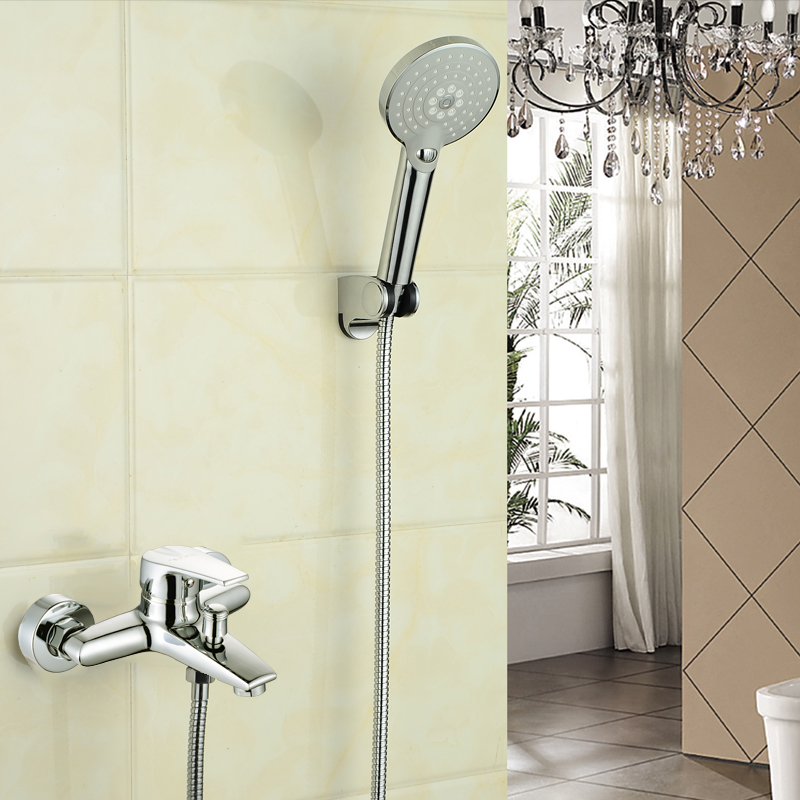 Shower bath water heater bath shower faucet valve with electric water heater nozzle European hot and cold water