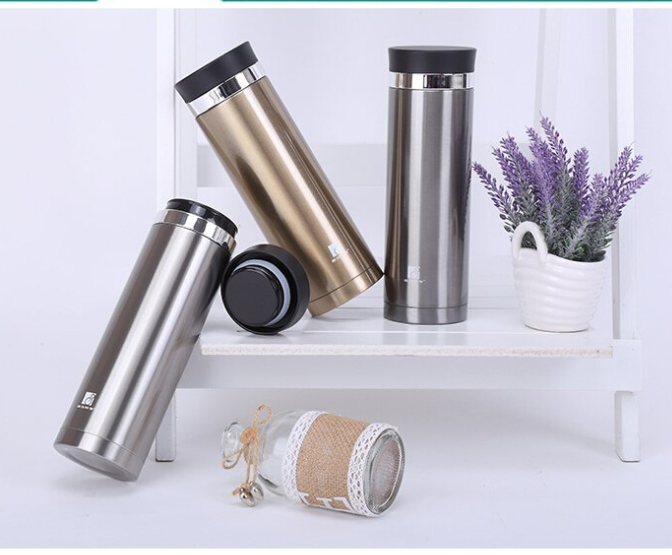 Pangu vacuum fashion men and women thermal cup, stainless steel business straight cup, outdoor creative advertising gift cup