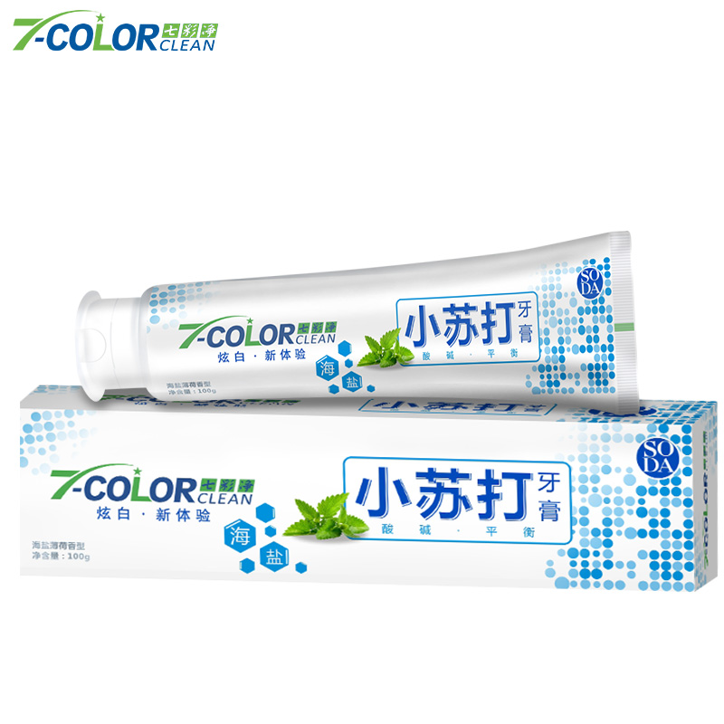 A white moth 100g*4 clean tooth gingival toothpaste to yellow stains salt soda mint.