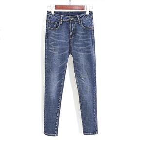 508#8805组合款韩版高腰chic复古紧身九分裤学生九分长裤小脚铅笔