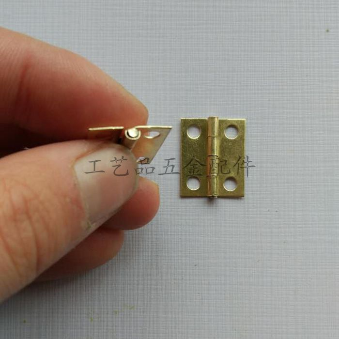 Mini ein scharnier holzkiste Goldene geschenk - box verkauft Produkte und filet scharnier.