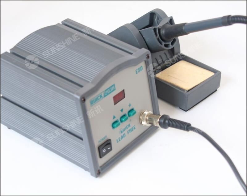 QUICK 203H digital high frequency soldering lead-free soldering station temperature crack 90W high power temperature soldering iron welding machine