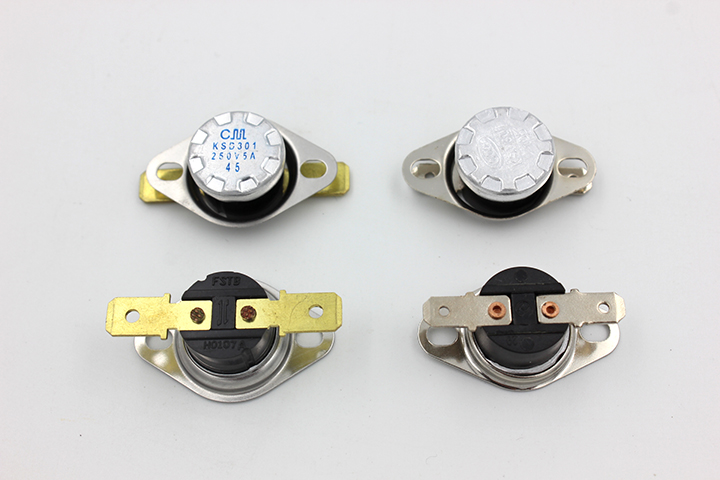 KSD301 thermostat switch button jump type normally closed reduction temperature of 40~210 DEG C insurance activities