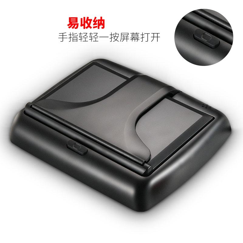 عرض الكريستال السائل السيارة الصغيرة ميني سيارة رصد التلفزيون بوصة قابلة للطي 4-3 عكس فان عرض الصور