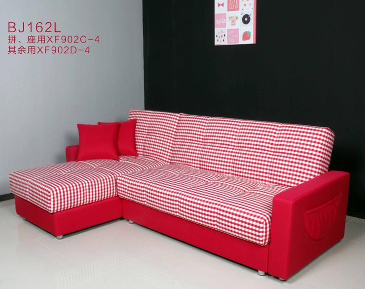 普菲斯多機能ソファ2 . 4メートルの布で角をL型リビングソファベッド収納さんBJ162 +貴妃