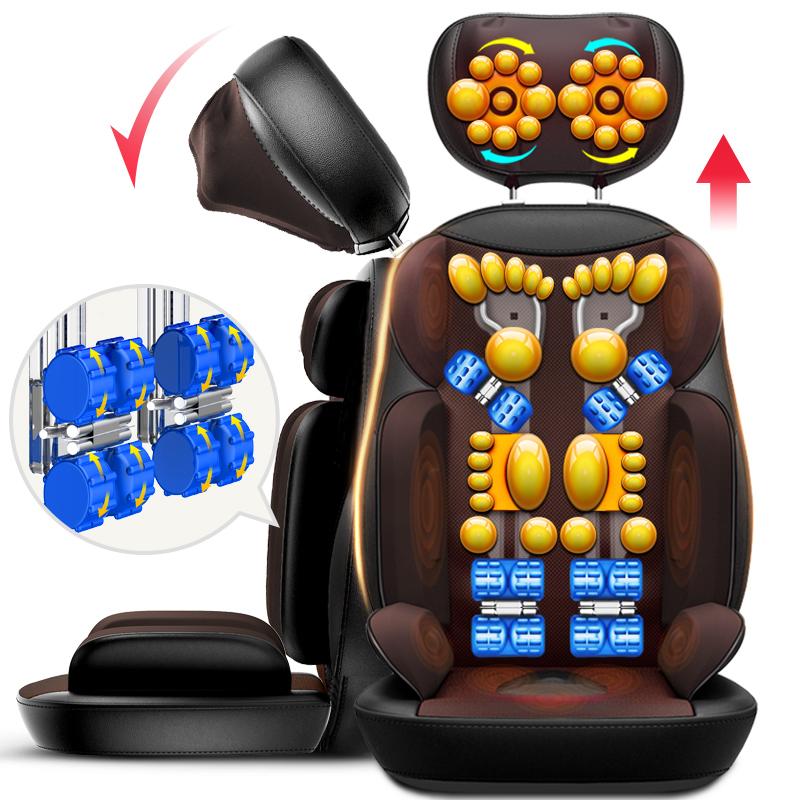 Het middel van elektrische stoel cervicale masseur nek terug algemene multifunctionele kussen schouders kussen voor huishoudelijk gebruik