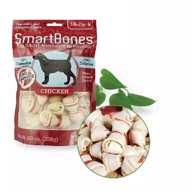 selv om usa SmartBones knogle. hund snacks hund bider gummi tand molær rod hund ånde, gule tænder.