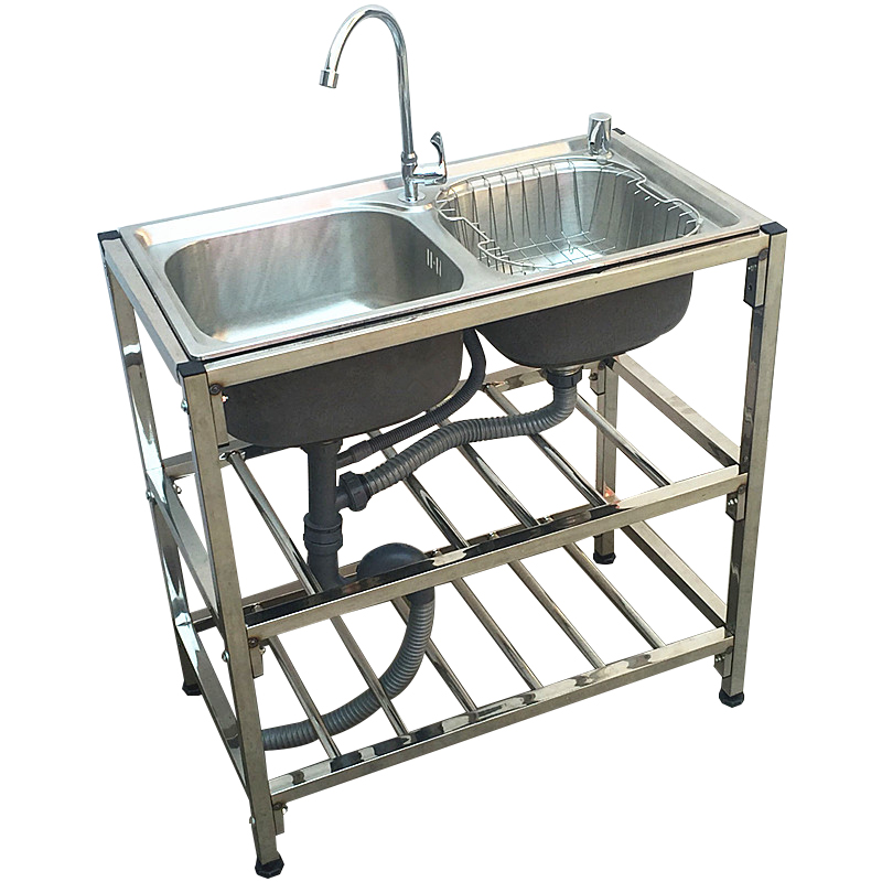 Kitchen stainless steel bracket, basin sink, double trough support, custom dishes, wash, wash, wash, wash basin shelf