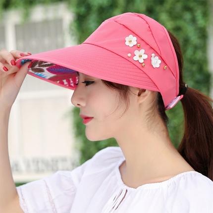 遮阳女夏天韩版户外防紫外线凉帽子可折叠骑车夏季太阳帽防晒大沿