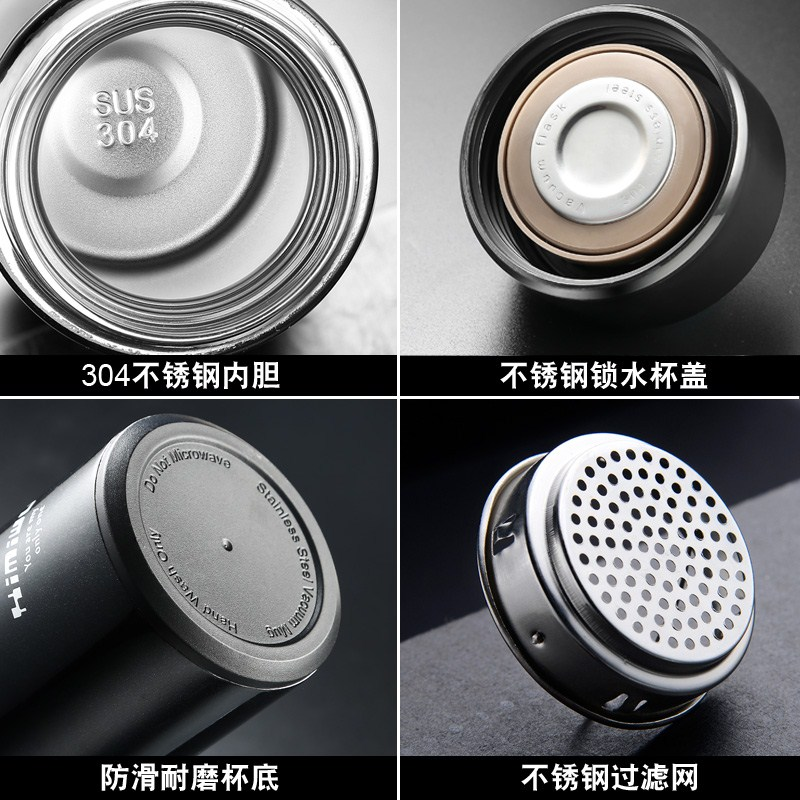 Korean vacuum stainless steel thermos cup, men's cup, outdoor teacup, lady portable children's Thermos Pot, student cup