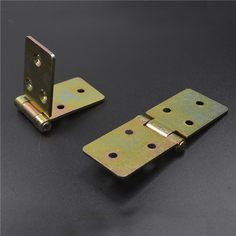 Thickened square turning plate, iron hinge, desktop hinge, stainless steel hinge, waist hinge table, round table hinge package