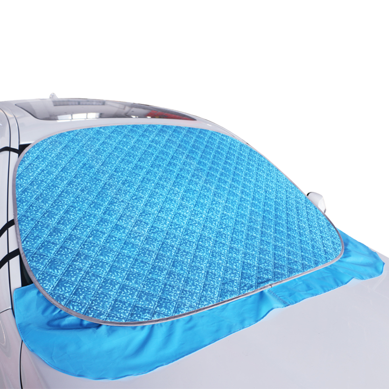Easy folding car sunshade sunshade and heat insulation aluminum foil thickened front visor sun block to prevent frost
