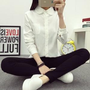 7717#实拍【优质版】2017春秋新款女装花边蕾丝长袖衬衫